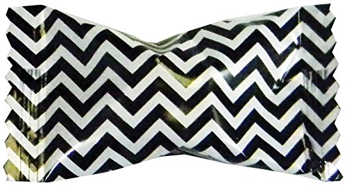 Party Sweets Chevron Black Buttermints by Hospitality Mints, Appx 300 mints, 7-Ounce Bags (Pack of -