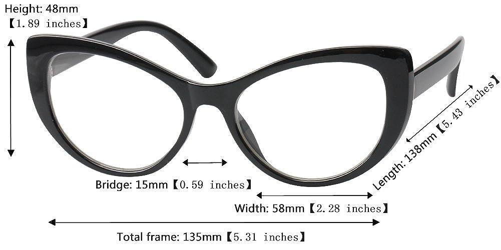 f83781dec2c Amazon.com  SOOLALA Womens Large Frame CatEye Prescription Glass Frame  Reading Glasses