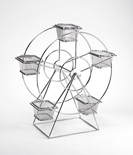 G.E.T. Enterprises 4-92065 14.5'' x 7'' Ferris Wheel, 18.5'' Clipper Mill, Metal, Chrome (Metal Basket Sold Separately) by G.E.T. Enterprises