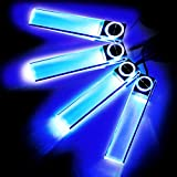 Zone Tech Auto Interior LED Atmosphere Lights - 4in1 12V Premium Quality Car Interior Blue LED Atmosphere Lights Floor Decoration Lamp