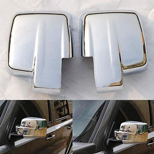 Ponis-Limos - Chrome Door Side Rear View Mirror Cover Trim Molding Anti-rub Car Styling For Jeep Patriot 2007-2015 For Jeep Liberty 2008-2012