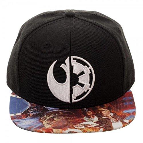 Bioworld Star Wars Sublimated Bill Split Logo Snapback Baseball Hat (Bill Split Cap)