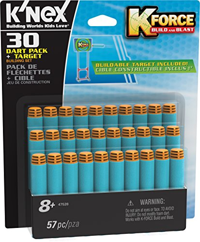 K'NEX K-FORCE – 30-Dart Pack and Target – 51 Pieces –  Ages 8+ Engineering Educational Toy (Amazon Exclusive)