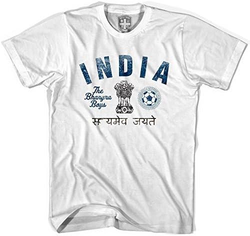 India bahgrin niños camiseta de fútbol blanco blanco Jovenetud S: Amazon.es: Ropa y accesorios