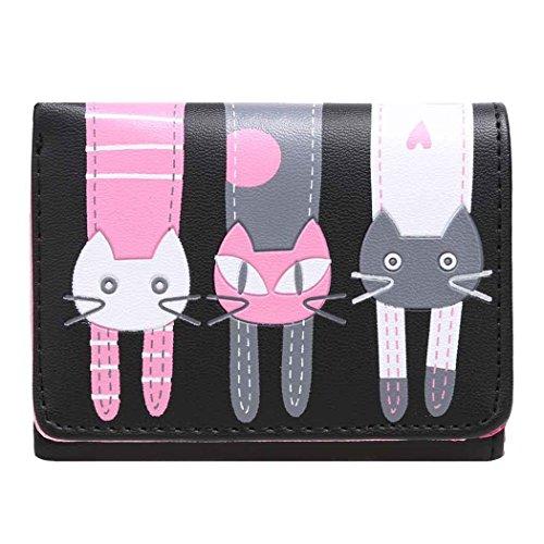 Tinffy Cat Pattern Wallet Coin Purse Clutch Bag Short Wallet Card Holders ()