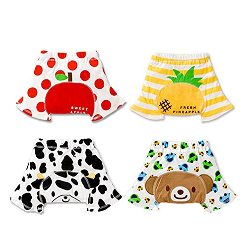 Skhls Toddler Cotton Super Soft Bloomers Fifth Shorts Pants 4 Pack, Boys 12M