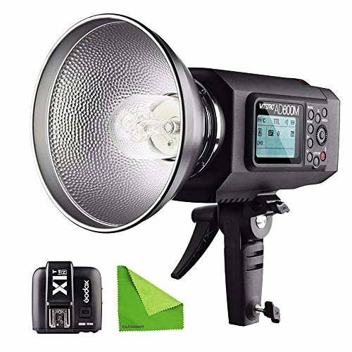 EACHSHOT AD600M Manual Version HSS 1/8000s 600W GN87 Outdoor Flash Light (Godox Mount) with Lithium Battery 8700mAh + X1T-N Wireless Trigger For Nikon With EACHSHOT Cleaning Cloth by EACHSHOT