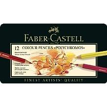 Faber-Castell Polychromos Artist Colored Pencil Set 12-Pencil Tin Set