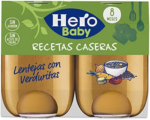 Hero Baby - Babyrecetas Lentejas Verduritas 380 gr - Pack de 3 (Total 1140 grams): Amazon.es: Alimentación y bebidas