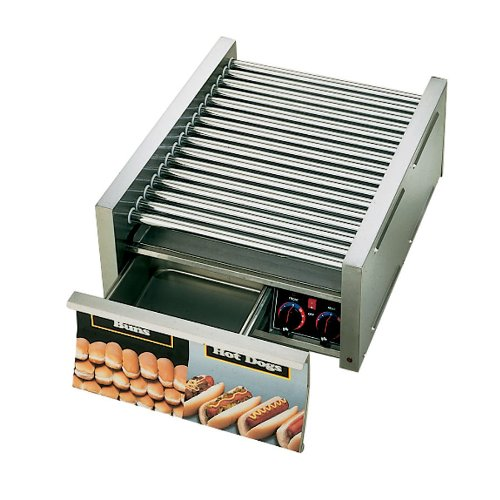 Star - 75SCBD - Grill-Max Pro 75 Hot Dog Roller Grill with Bun Drawer
