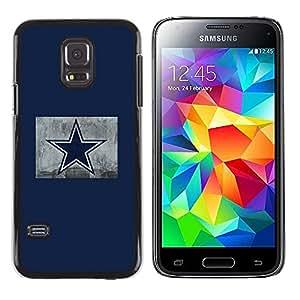 TaiTech / Prima Delgada SLIM Casa Carcasa Funda Case Bandera Cover Armor Shell PC / Aliminium - Estrella azul - Samsung Galaxy S5 Mini, SM-G800