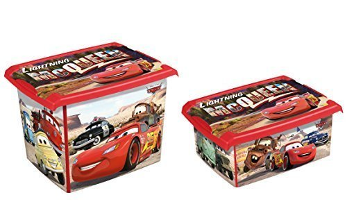 Set Di 2 Moda Scatola Disney Cars 20L + 10L Scatola salvaspazio Porta oggetti keeeper
