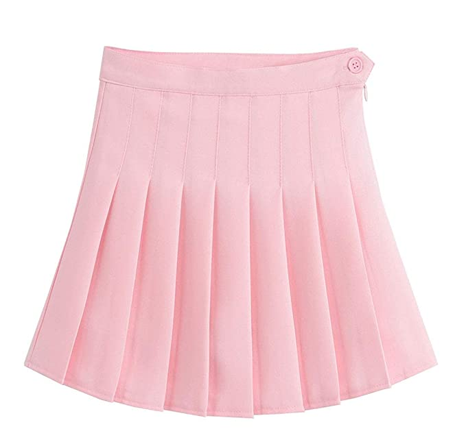 DELEY Mujeres Chicas De Alta Cintura Una Línea Falda De Tenis ...