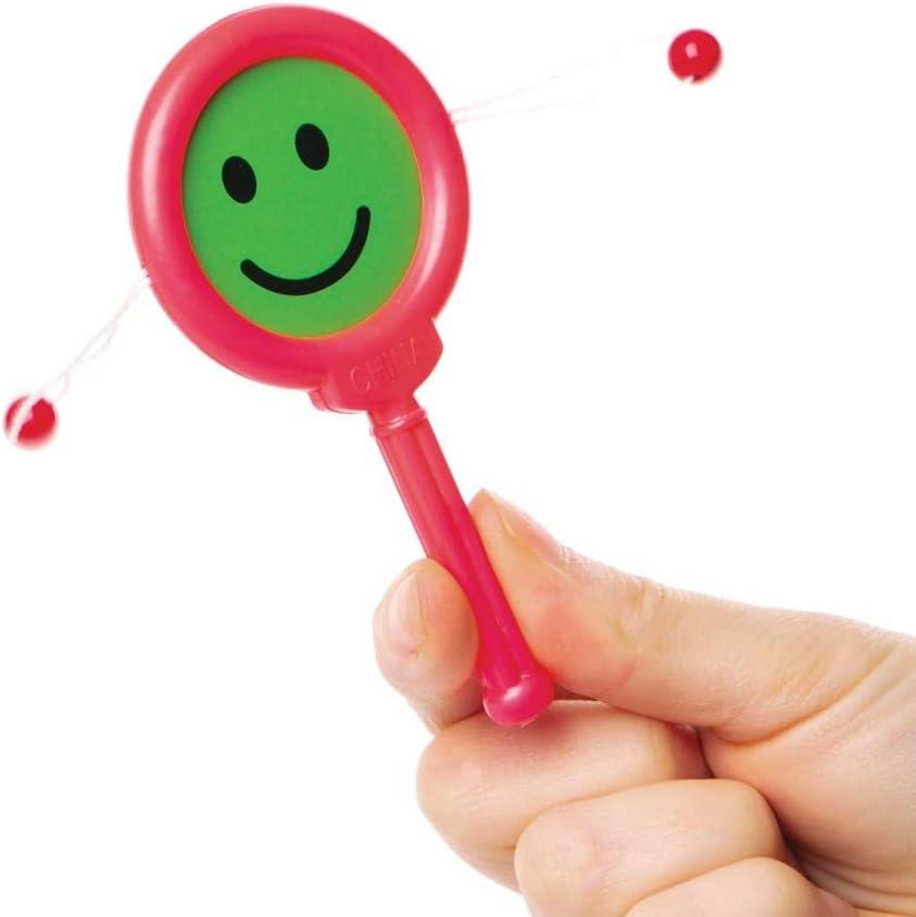 lot de 8 Baker Ross Tambours de mendiant visages souriants Parfaits pour les pochettes-surprises des enfants.