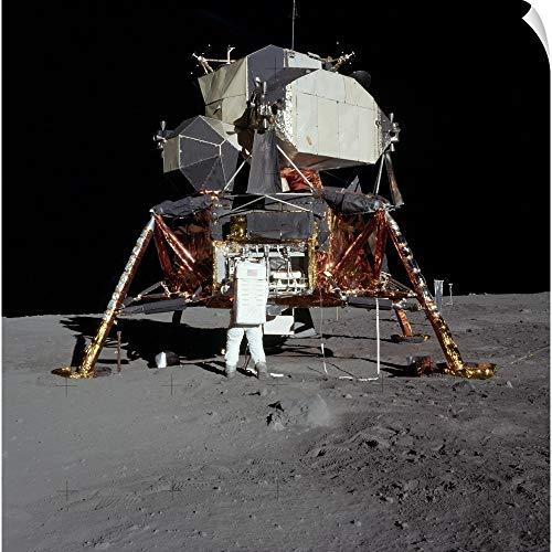 CANVAS ON DEMAND Stocktrek Images Wall Peel Wall Art Print Entitled an Apollo 11 Astronaut in Front of The Lunar Module (Lunar Module Spacecraft)