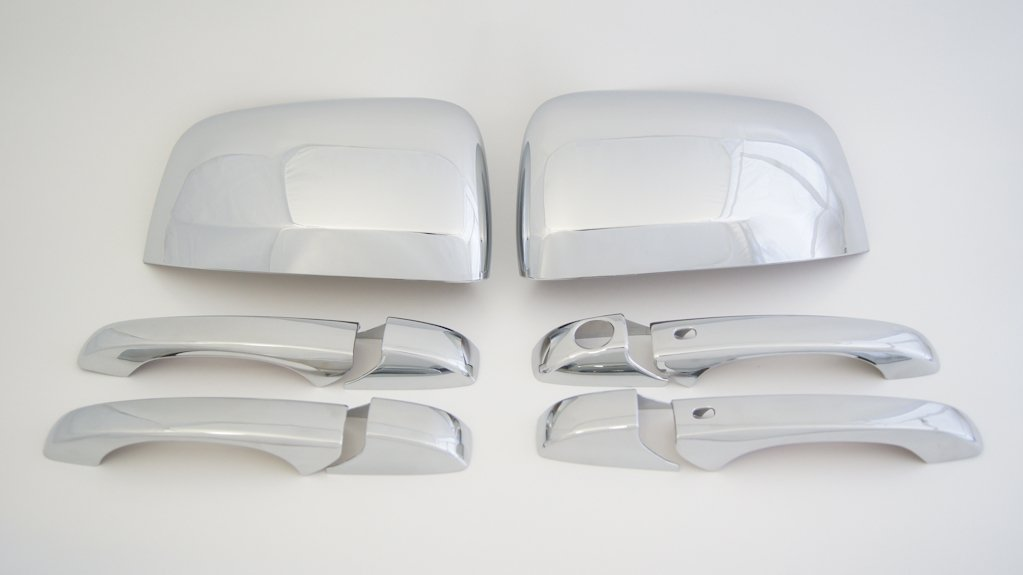 Jeep Grand Cherokee Chrome Set Mirror Cover Set and 4 Door Handle Cover Set with Smartkey 2011-2012 -2013