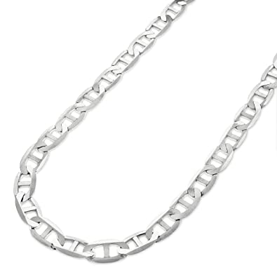 1ee0c2ade Sterling Silver Italian 5.5mm Mariner Anchor Link ITProLux Solid 925 Flat Necklace  Chain 16