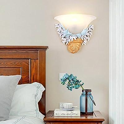 Kezeer Nordic Classic Led Resina Coral Aplique De Pared Leer Lámpara De Pared Escalera Dormitorio Habitación Dormitorio Aplique: Amazon.es: Hogar