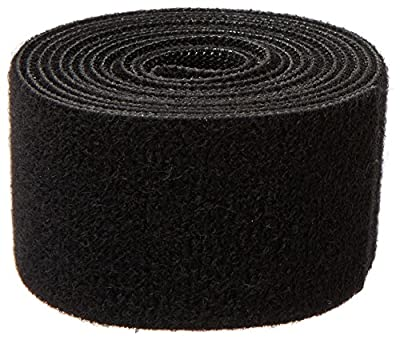 "1805-OW-PB/B-5 Nylon Onewrap Strap, Hook and Loop, 1-1/2"" Wide, 5' Length, Black"