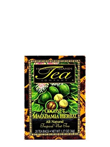 Coconut Macadamia Coffee (Coconut Macadamia Rooibos Tea (20 Tea Bags, Tropical, Flavored, All Natural) by Hawaiian Islands Tea Company)