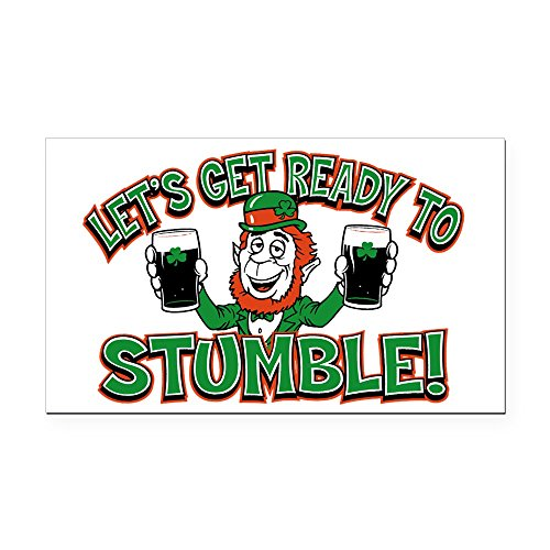 Rectangle Car Magnet Large Ready To Stumble Irish Shamrocks ()