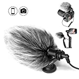 Neewer CM14 Video Microphone Vlogging Livestream Recording Mic for Sumsang Huawei, DJI Osmo Mobile 2, ZHIYUN Smooth Q Smooth 4 Feiyu Vimble Canon Sony DSLR Cameras and More