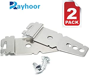 Rayhoor 2 Pack 8269145 Dishwasher Mounting Bracket Replacement with Screws for Whirlpool & KitchenAid, Replaces WP8269145 AP3039168 PS393134