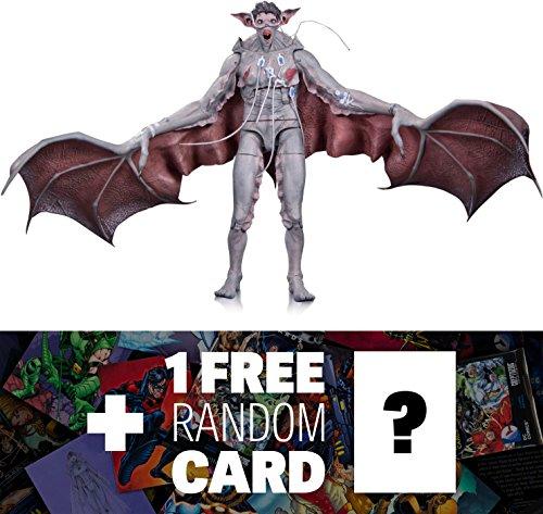 "Man Bat: ~7"" DC Collectibles Batman Arkham Knight Action Figure + 1 FREE Official DC Trading Card Bundle (33517)"