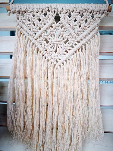 """QEES Handmade Welcome Door Sign Wall Macrame Woven Fringe Wall Hanging 12\"""" L Bohemian Tapestry Home Decorative BOHO Chic Wedding Party Event Backdrop Decoration DS09"""