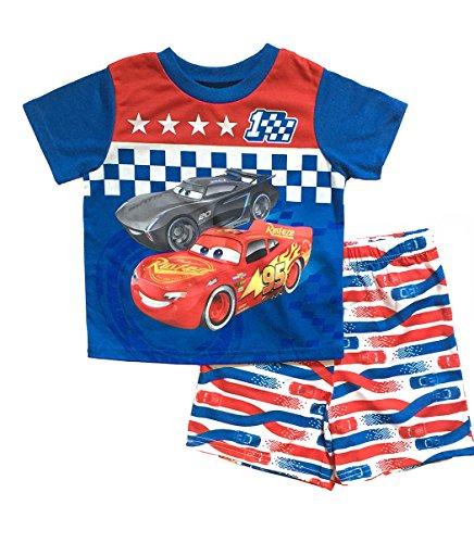 (Disney Cars 3 Little Boys Toddler Poly Short Pajama Set (4T,)