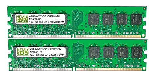 2GB (2 X 1GB) DDR2 400MHz PC2-3200 240-pin Memory RAM DIMM for Desktop PC