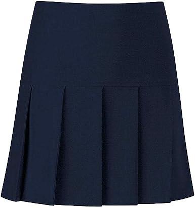 Real Life Fashion Ltd. Falda plisada para colegio, con cremallera ...