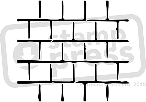 Stamp Press A3 Mur de Briques Pochoir Mural WS00010116