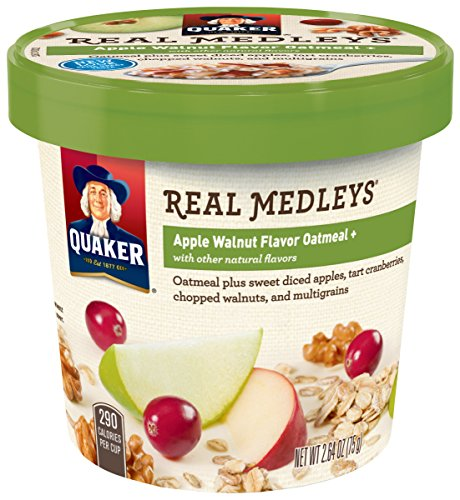 030000315507 - Quaker Real Medleys Oatmeal+, Apple Walnut, Instant Oatmeal+ Breakfast Cereal, (Pack of 12) carousel main 2