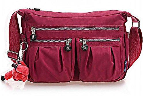 Bandouliere clair En Impermeable Sac poches violet A Leger Multi A Sac Femme Epaule ODEMA Main Main IZXPq