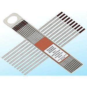 10 pcs of 1/16″7″(1.6175mm)WZ3 Brown0.3% Zirconiated Tungsten TIG Electrode (ETA:7-12 WORK DAYS)