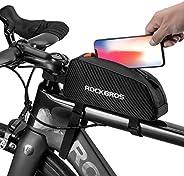 ROCKBROS Top Tube Bike Bag Bicycle Frame Bag Top Tube Aero Bag Holds Cell Phone Gel Nutrition Pump Tools