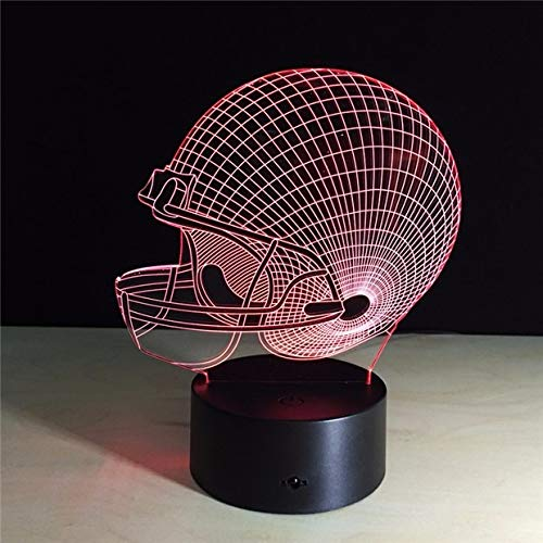 ra Football USB Novelty Pittsburgh Soccer Helmet RGB LED Night Light 3D Table Lamp Home Decor Touch Light,Touch Switch ()