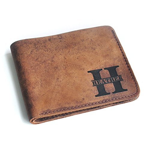 Personalized Leather Wallet, Custom Name Wallet, Wallet For Men, Groomsmen Gift by LOVEhandmade