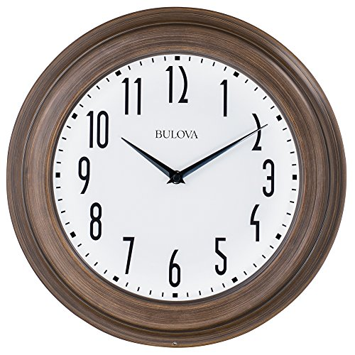 Clocks  Beacon Clock, Dark Wood - Bulova C4863