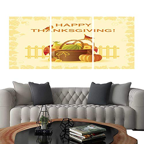 UHOO Prints Wall Art PaintingsHappy Thanksgiving Fruit Basket. Customizable Wall Stickers 20