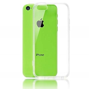 NALIA Funda Carcasa Compatible con iPhone 5C, Protectora Movil Silicona Ultra-Fina Gel Cubierta Estuche, Goma Telefono Bumper Back-Cover Cobertura ...