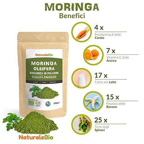 Moringa Oleifera Ecológica en Polvo - ETIQUETA ALEMANA - [Calidad ...