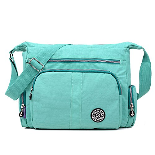 Mecooler Women Body Waterproof For Satchel Bag Cross Casual Bookbag Shoulder Messenger Travel Side Fashion Sport Lightweight College Green rxrqORwd