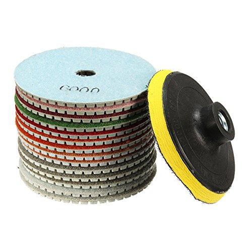 15pcs 4 Inch 30-6000 Grit Diamond Polishing Disc with M14 Self-adhesive Thailand