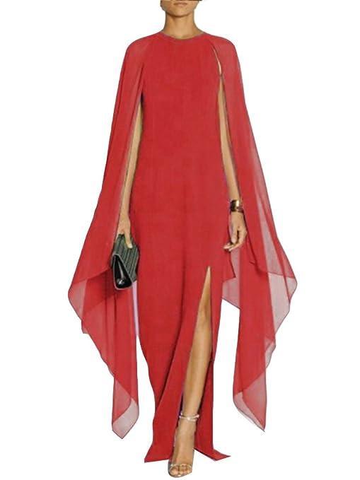 finest selection ead01 65c4e Gladiolus Donna Elegante Vestiti Lunghi Cocktail Cerimonia Abito in Chiffon  Senza Maniche