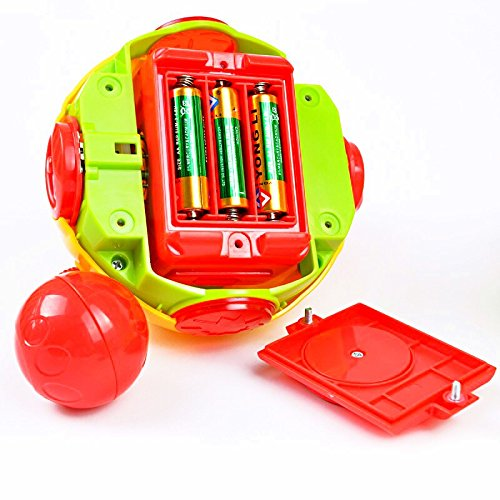Zhoyea Simple Design Toy Children's Creeping Music Rotate Ball Toy Jumping Ball Electric Puzzle Music Dancing Ball