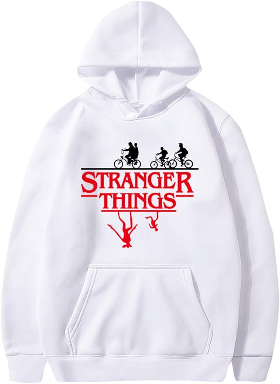 Pull Stranger Things Fille Sweat-Shirt a Capuche Stranger Things Femme Unisexe Ado Fille Sweat Sport Rayures Base-Ball Imprim/é Sweat Shirt Hoodie Sweatshirt Fan de Stranger Things