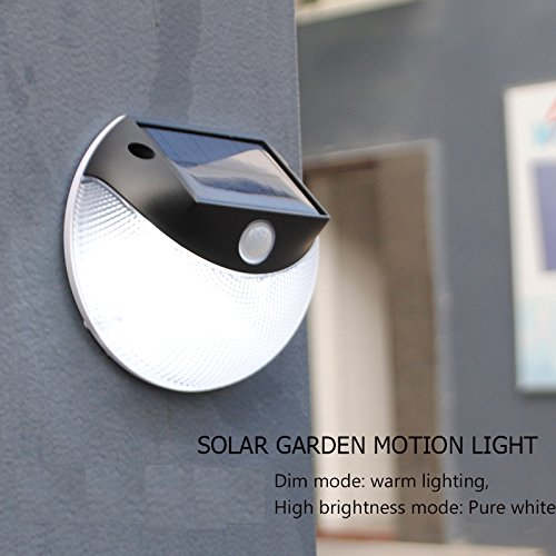 Cheap galababa 200 Lumens Super Bright Solar Wall-Mounted Light,IP65 Waterproof Smart led Garden Solar Wall Light for Outdoor Using, Garden,Outside Wall