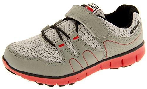 Gola Niños Running las zapatillas de deporte Gris, negro y rojo